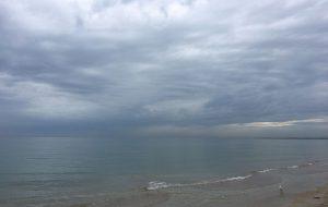 Overcast beach day